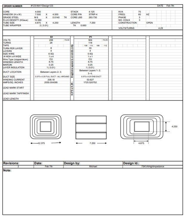master file transformer design software