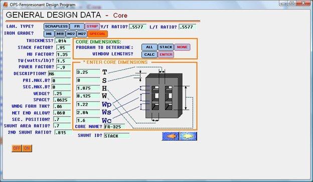 Ferroresonant Transformer Design Software