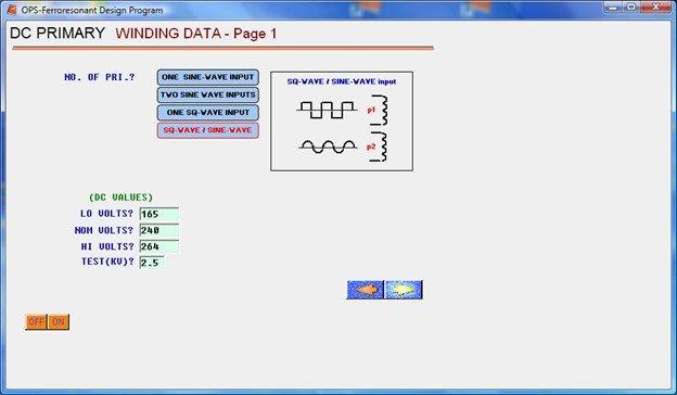 DC Primary Transformer Design Software