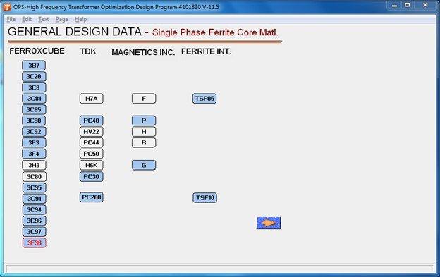 single phase ferrite core