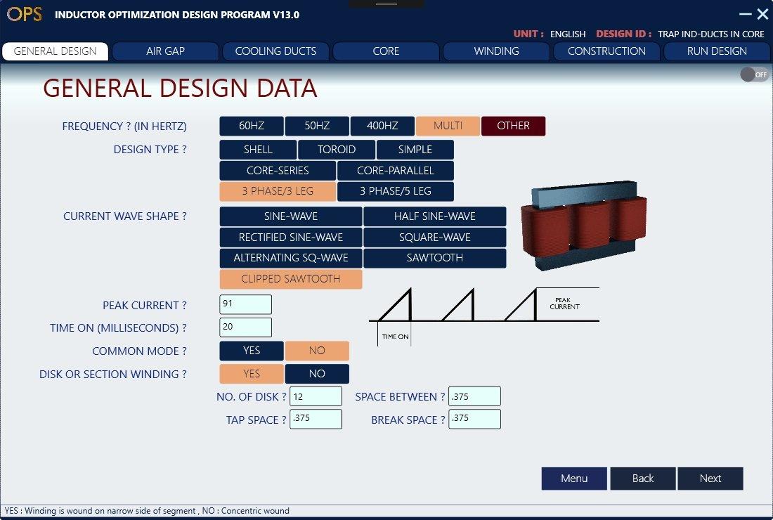 Inductor Design Software