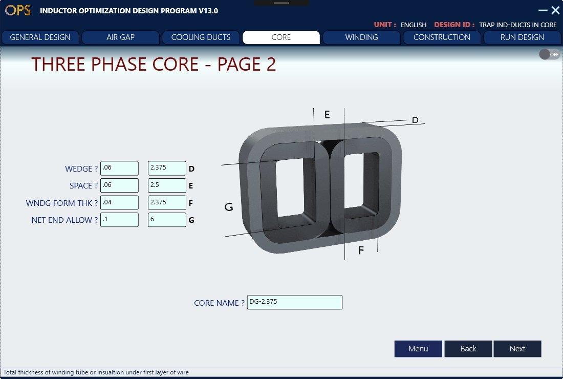 Inductor Design Software Transformer