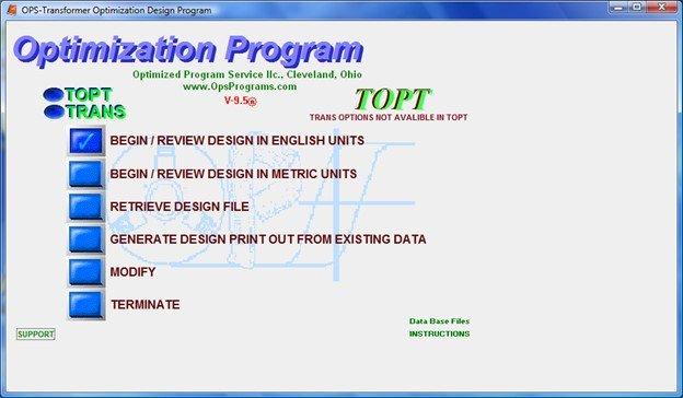 transformer design optimization program software
